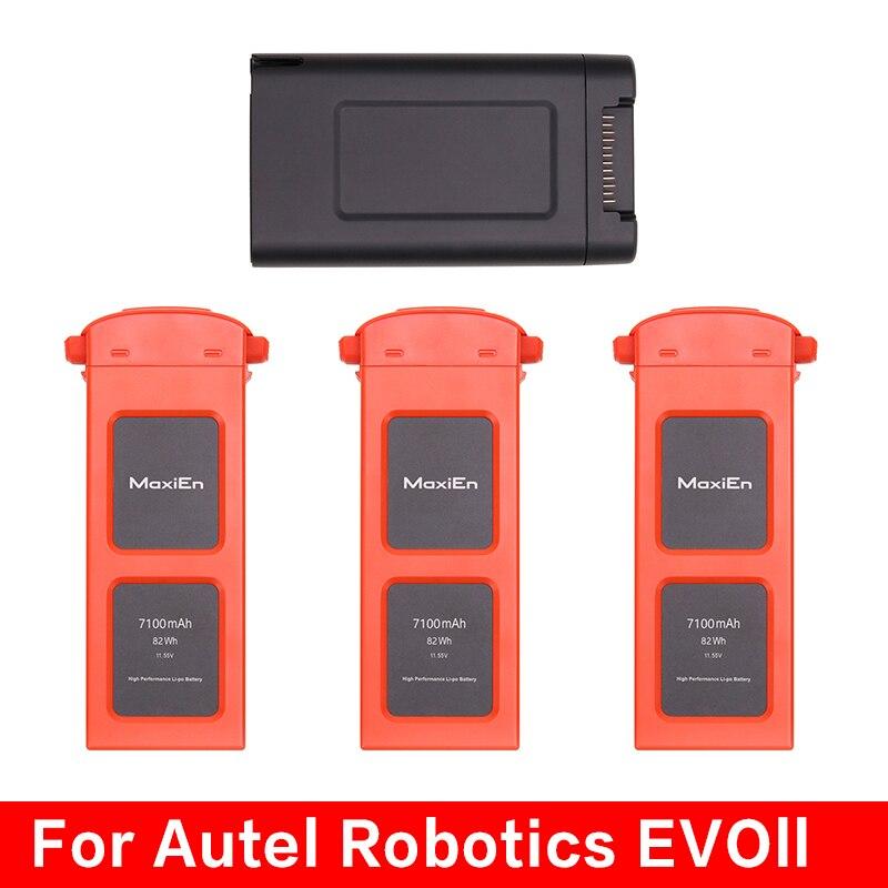 Autel Robotics EVO II بطارية ذكية 7100mAh بطاريات ليثيوم بو شاحن محور شحن ل EVO II/برو/المزدوج الملحقات العامة