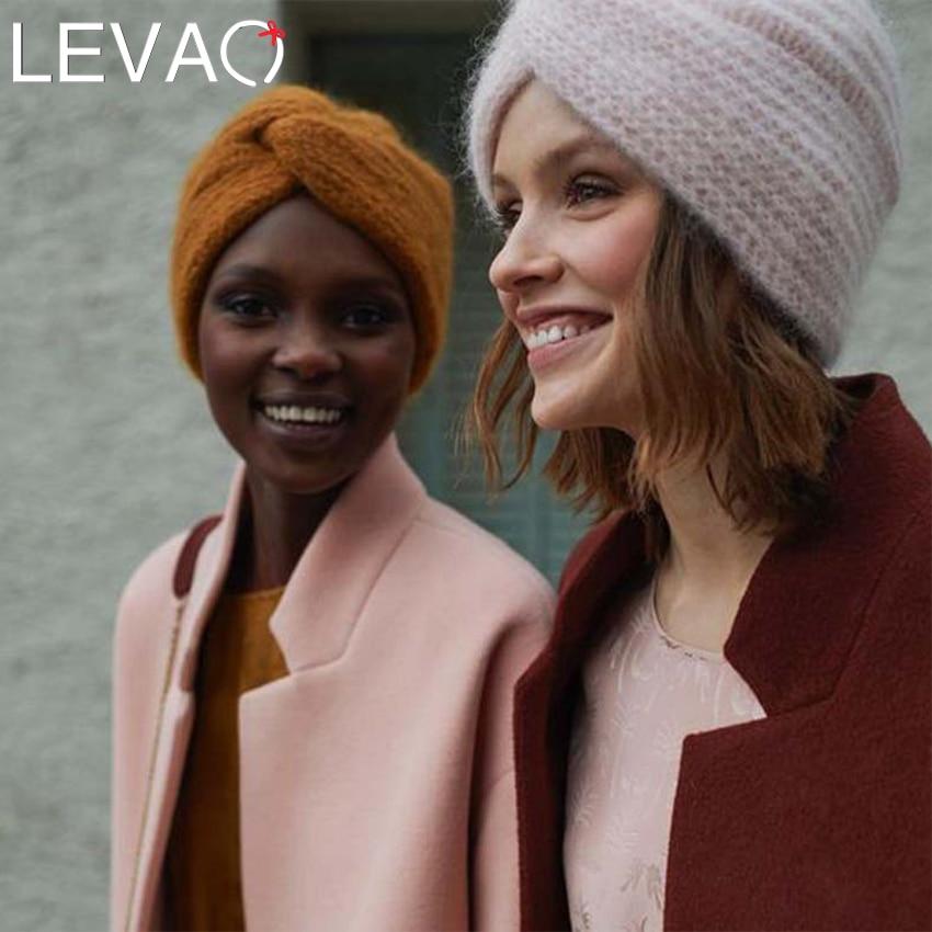 Levao новая зимняя теплая вязаная тюрбан крест твист арабский волос повязки на голову для женщин аксессуары для волос вязаные банданы повязка...