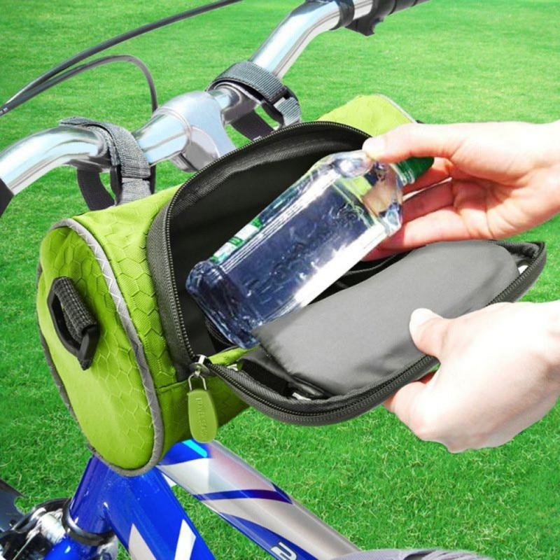 Bolsas de bicicleta de gran capacidad bolsa de manillar impermeable bicicleta de carretera de montaña tubo delantero teléfono bolsa pantalla táctil paquete