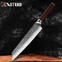 xituo 9 5 inch special kitchen knife ultra sharp home cleaver chef knife meat slicing hammer stainless steel filleting knife