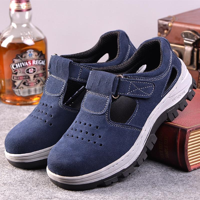 أحذية أمان للرجال ، أحذية عمل مسامية ، مقاومة للصدمات ، مقاومة للثقب ، مع غطاء إصبع القدم الصلب الخفيف ، أحذية المشي لمسافات طويلة