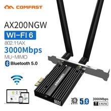 Double bande 2.4Gbps PCIe Wifi carte Intel AX200 Gigabit carte réseau 802.11AX Bluetooth 5.0 Wi-Fi 6 AX200 Pro adaptateur sans fil
