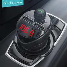 KUULAA 3.4A автомобильное зарядное устройство FM передатчик Bluetooth FM Аудио FM модулятор MP3 плеер Dual USB мобильный телефон зарядное устройство для iPhone ...