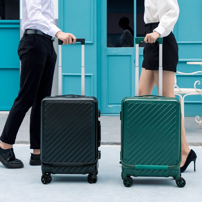Business boarding case, airplane suitcase, small 20-inch opening password travel suitcase, luggage bag, trolley case, unisex