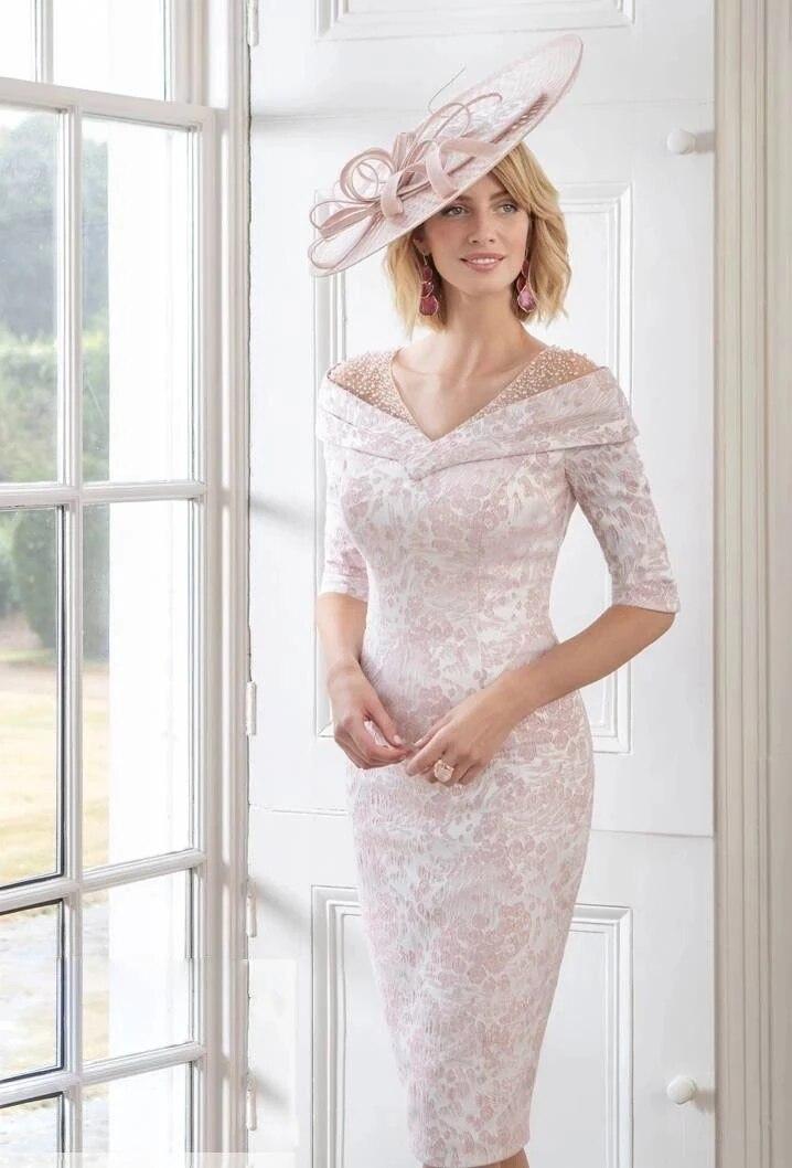 فساتين فضية أم العروس غمد مع سترة التفتا يزين حجم كبير العريس فساتين الأم قصيرة لحفل الزفاف