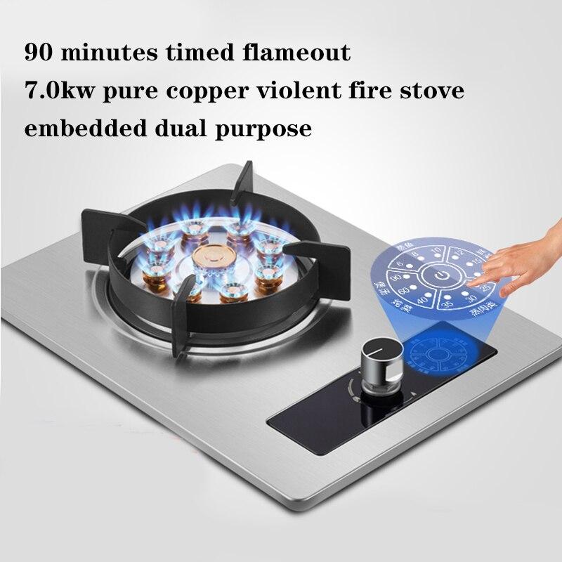 Fogão a gás embutido, fogão doméstico, fogão a gás natural, fogão a gás liquefeito de mesa, dispositivo termoelétrico de proteção do gás, fogão a gás