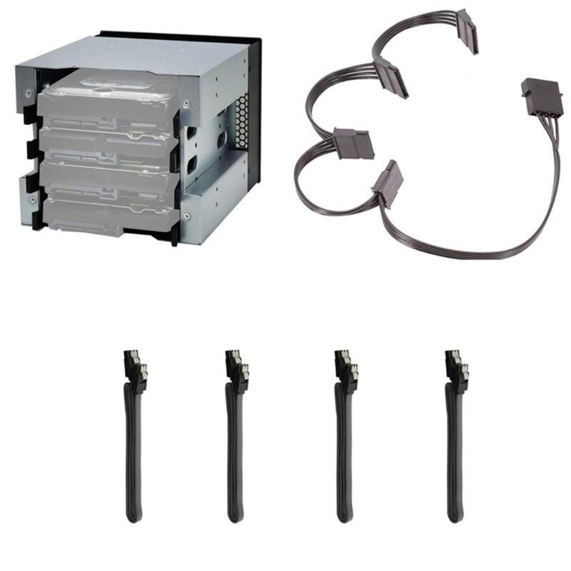 5 بوصة HDD الصلب سائق صينية رف القرص الصلب قفص محول رف قوس غير القابل للصدأ حقيبة صلبة 5 بوصة إلى 4 خليج 3.5