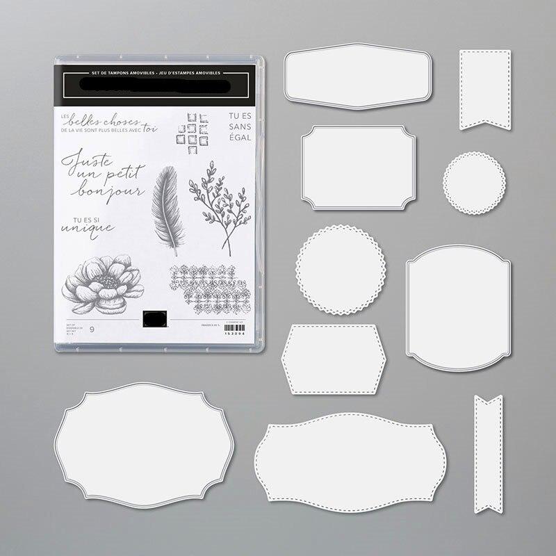 DE BOM GOSTO de Metal Corte Morre e Selos Claras cut die molde molde faca de lâmina soco Scrapbook Do ofício de papel stencils morre 2020