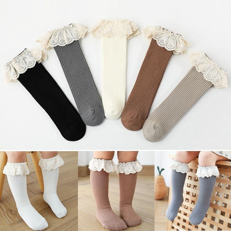 New Baby Girls socks Long Socks Kids Knee Lengths Soft Cotton baby Socks Kids 0-4 Years Knee High Socks