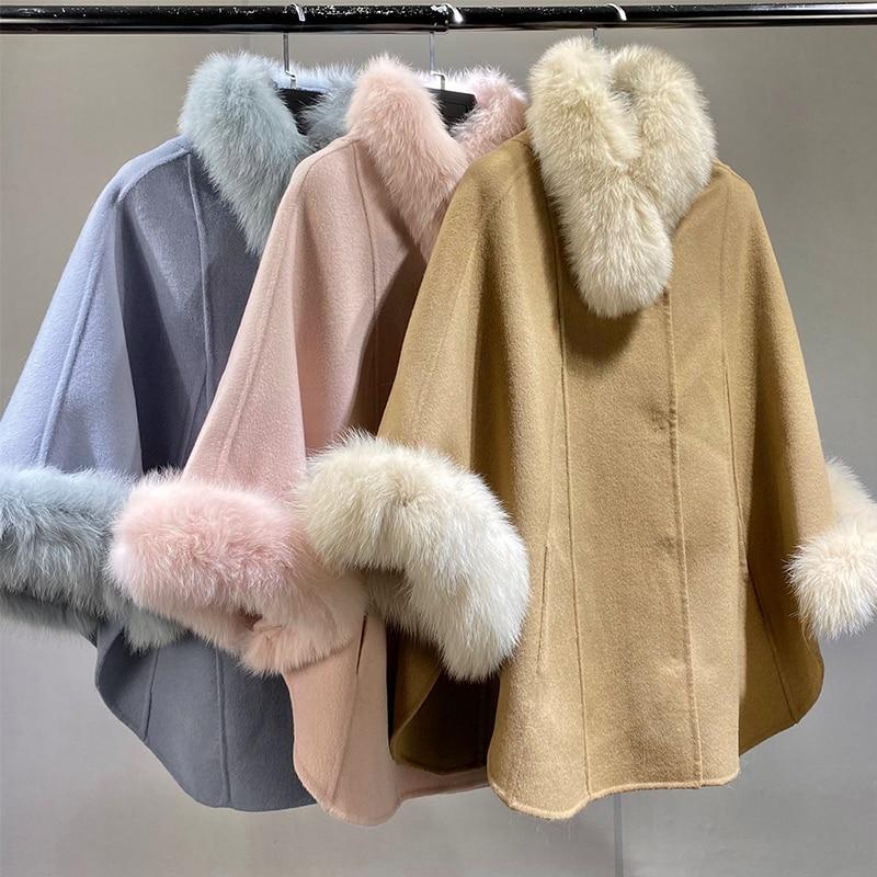 ارتفاع الموضة النساء أفخم الخريف الشتاء الفراء الحقيقي سترة النساء الطبيعية الثعلب طوق هود سميكة الدافئة ريال فوكس الفراء معاطف