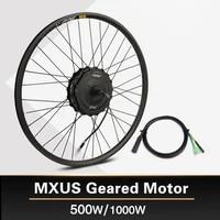 motor wheel 1000w electric bicycle 48v hub motor 500w ebike geared motor mxus xf19r rear motor powerful 26 27 5 700c