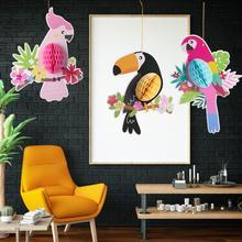 Fête tropicale perroquet Toucan nid dabeille Haing décor été anniversaire Luan hawaïen fête décorations jardin maison décoration