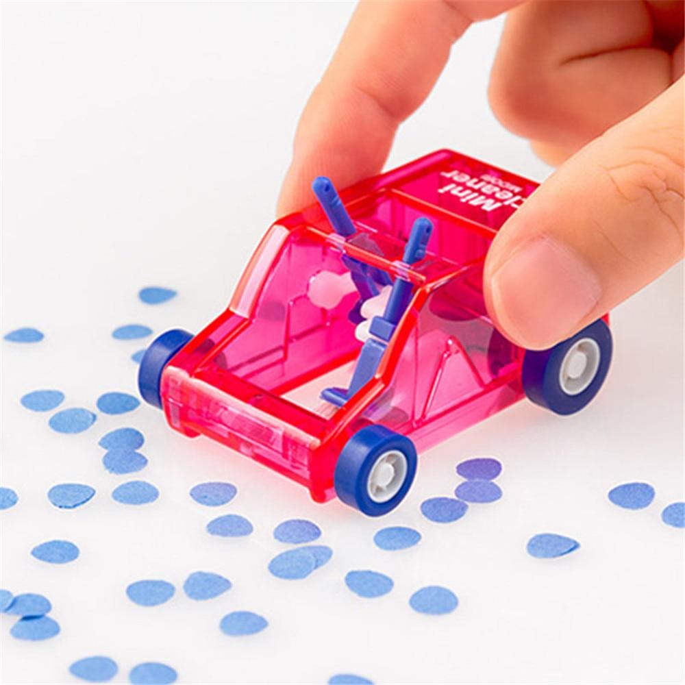 Cute Mini Car Table Dust Cleaning Trolley Keyboard Desktop Dust Cleaner Confetti Pencil Eraser Dust Sweeper Desk Set Kids Toys