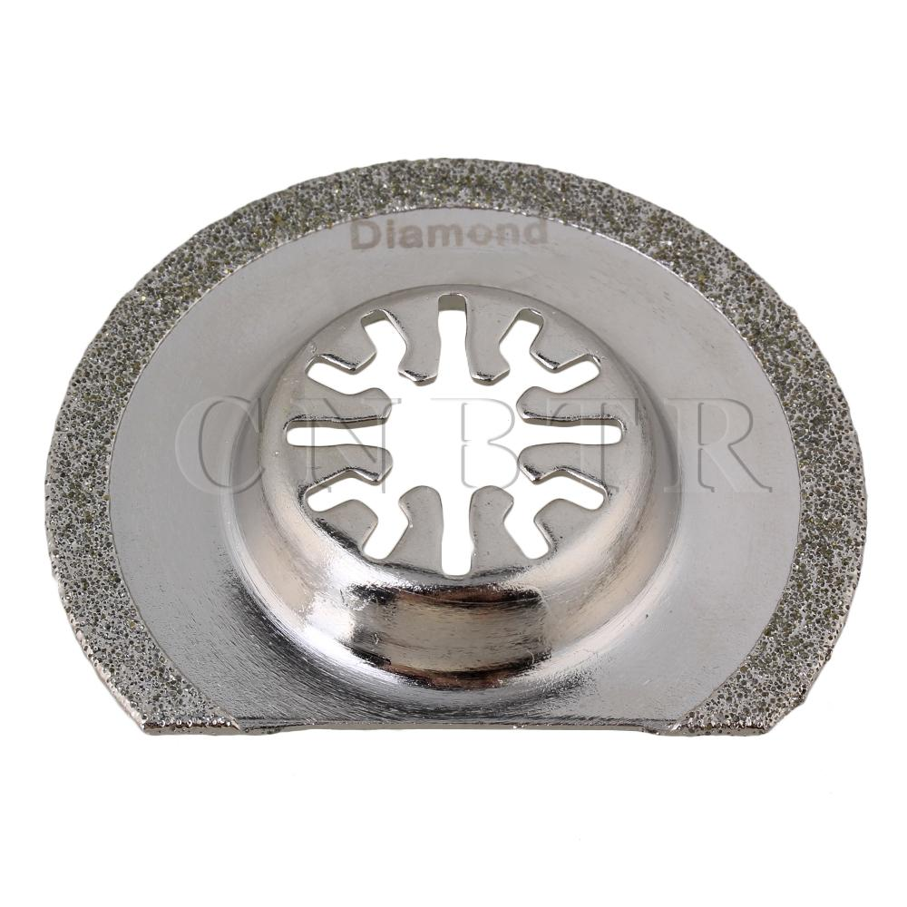 CNBTR Diamant Semi Rund Oszillierende Multi Funktion Sägeblatt für Fein BOSH