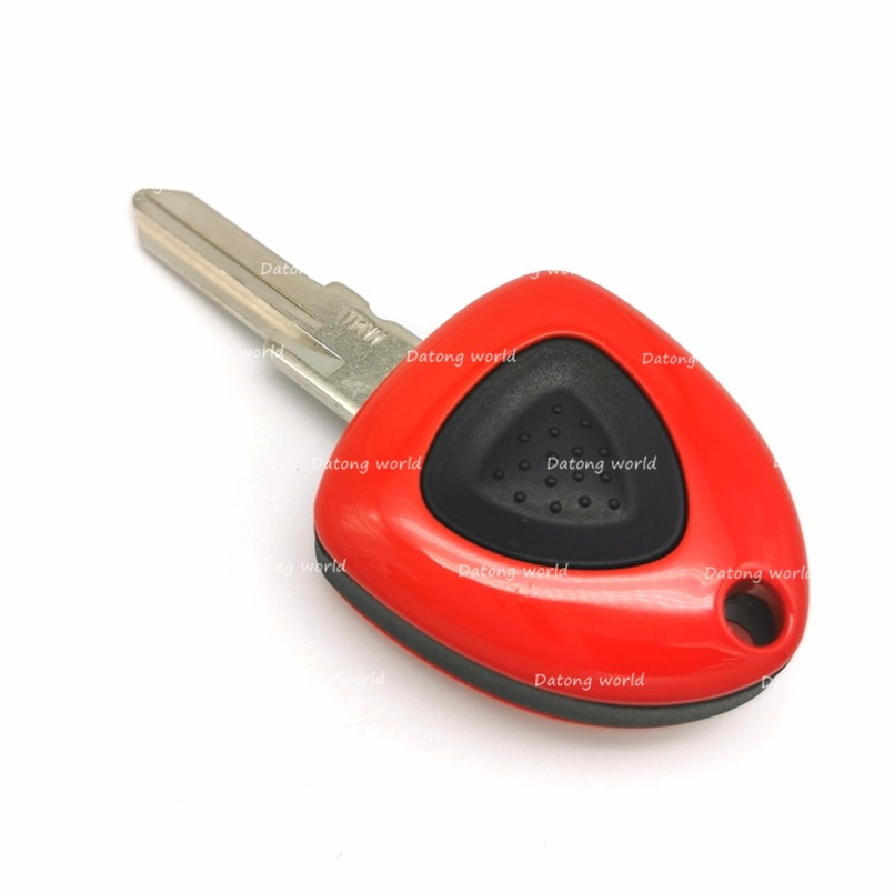 Funda de llave de control remoto para coche de Datong World, carcasa para llave de coche para Mitsubishi 458 F430 612, funda para llave de 1 botón, reemplazo de clave sin grabar para coche