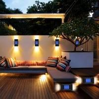 solar lamp outdoor waterproof landscape corridor fence wall lamp washing lighting garden courtyard decoration wall light