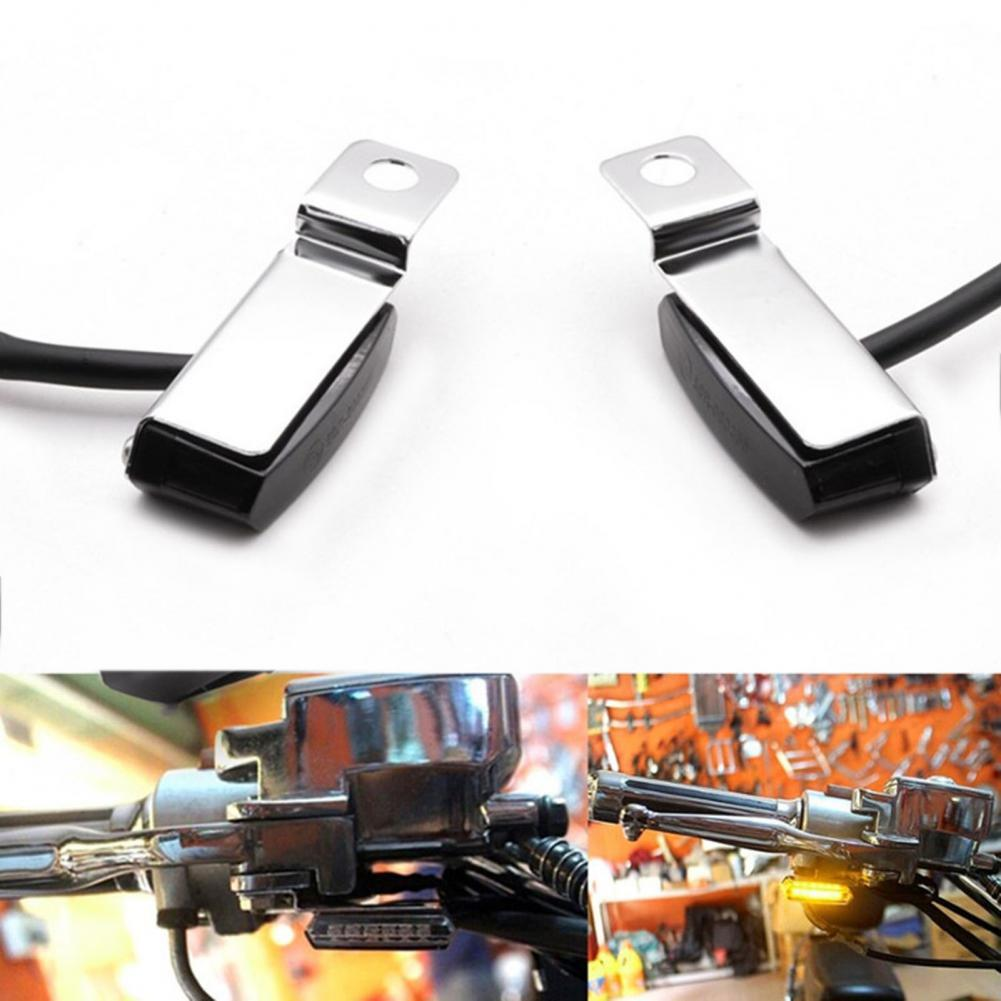 Universal Motorcycle LED Turn Signal Lamp Sequential Flowing Flash Indicator Lights Amber Running Light