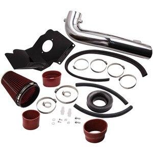 Cold Air Intake Filter Black + Heat Shield for GMC Yukon Denali XL 6.2L 15-20 Red Cold   for Cadillac Escalade ESV 6.2L