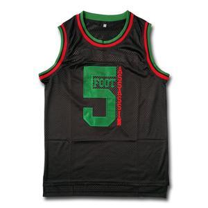 Phife Dawg#5 Foot Assassin Black Basketball Jersey Fast Shipping