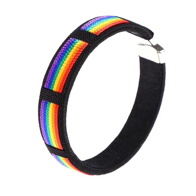 Fashion Rainbow String Bangle & Bacelet Charms Open Cuff Braclet For Men Women Jewelry
