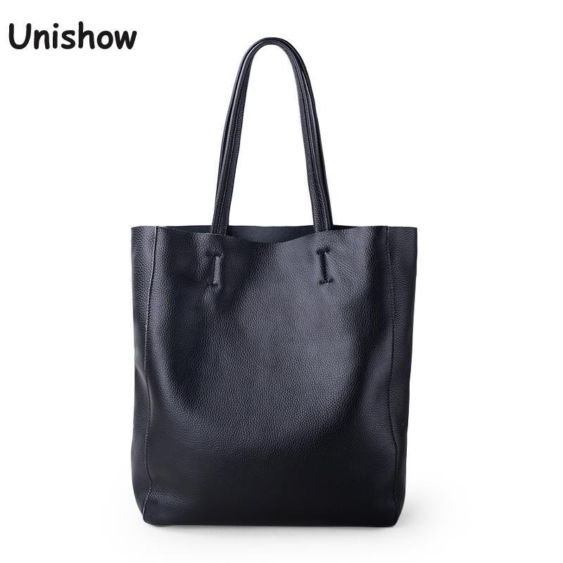 Simple Casual Leather Women Shoulder Bag Luxury Brand Designer Genuine Leather Lady Handbags Commuter Bag Large Female Totes Bag