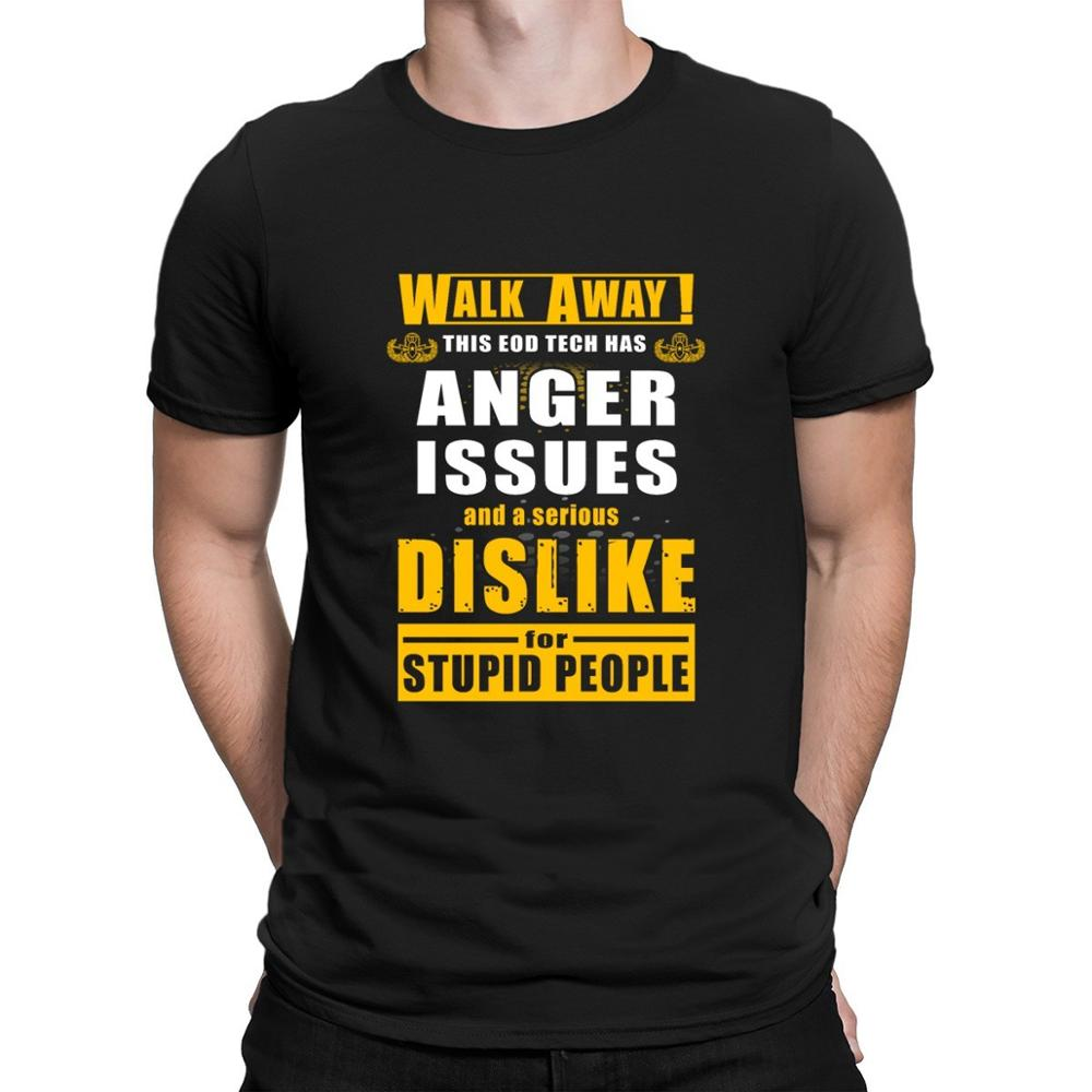 Andar longe esta tecnologia eod tem raiva iss t camisa topos personalizado caber nova camisa t para homem unisex normal primavera outono manga curta