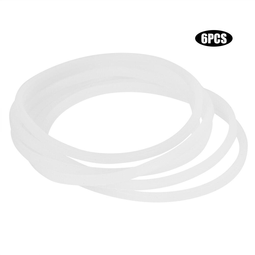 6 unids/set 3.31in goma O anillos arandela de silicona Junta de sellado abrazadera sanitaria anillo de casquillo Junta de sellado s accesorios arandela de lavadora
