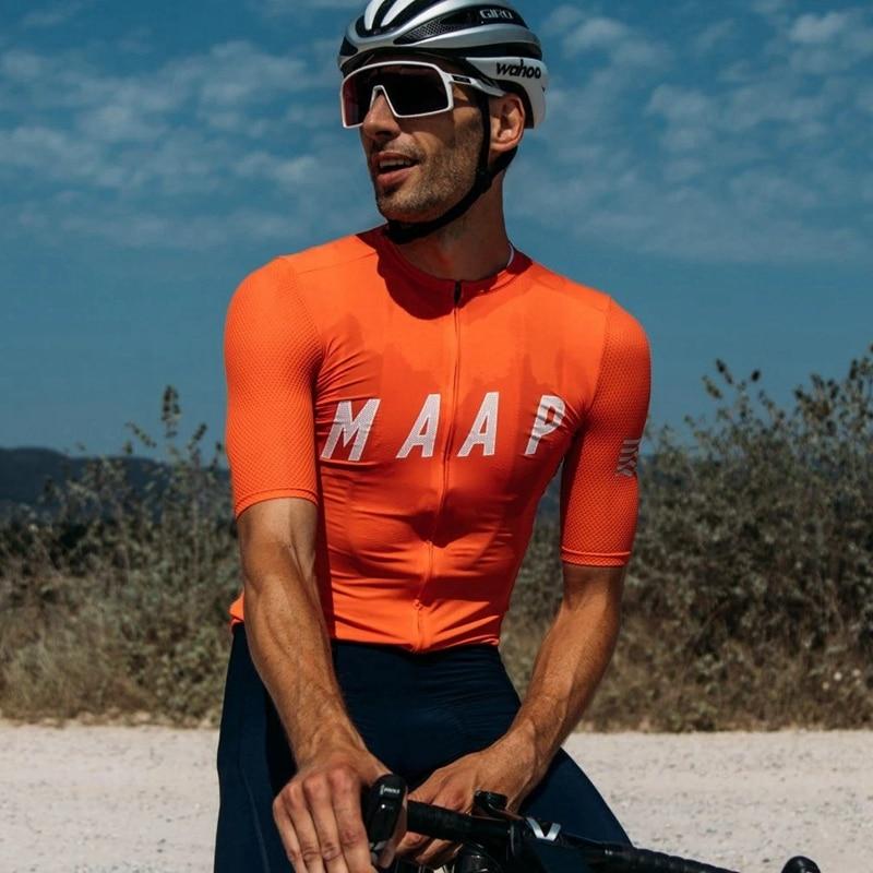 Maap-maillot de manga corta para ciclismo de montaña o carretera, verano, 2020