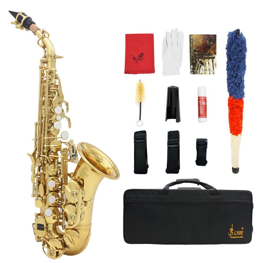 Soprano saxo B plat aigus petit coude Saxophone S975 S975S