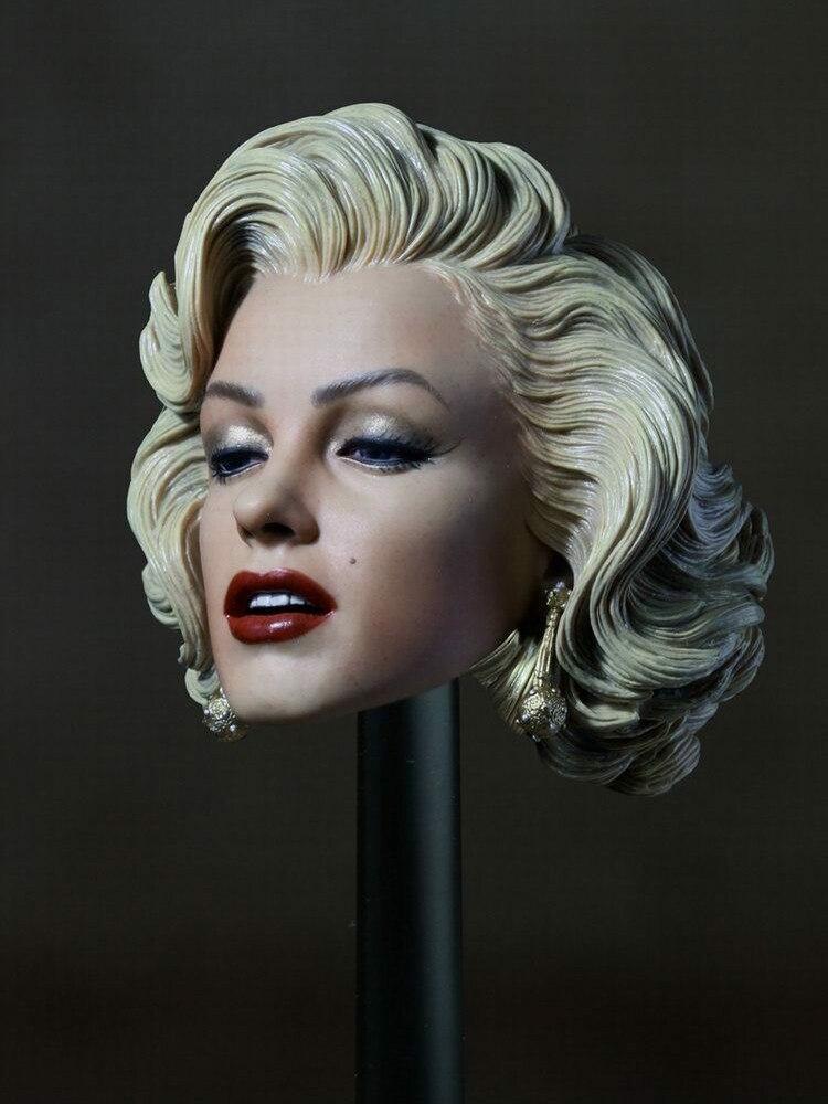 "1/6 herren Bevorzugen Blondes 1953 Marilyn Monroe Kopf Carving Sculpt Modell Fit 12 ""Weibliche Figur Körper"