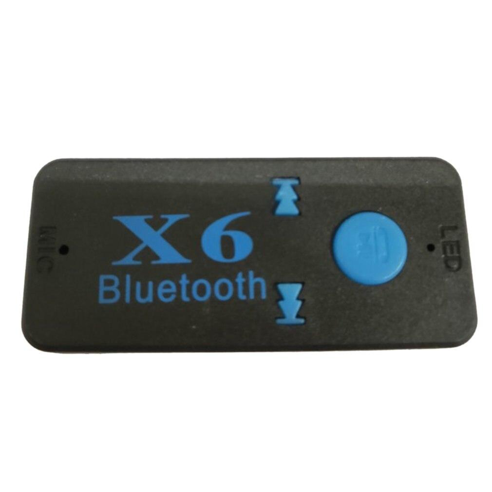 Coche llamada con manos libres adaptador de música X6 receptor de Audio adaptador de Audio para auto enchufable tarjeta Tf portátil Walkman