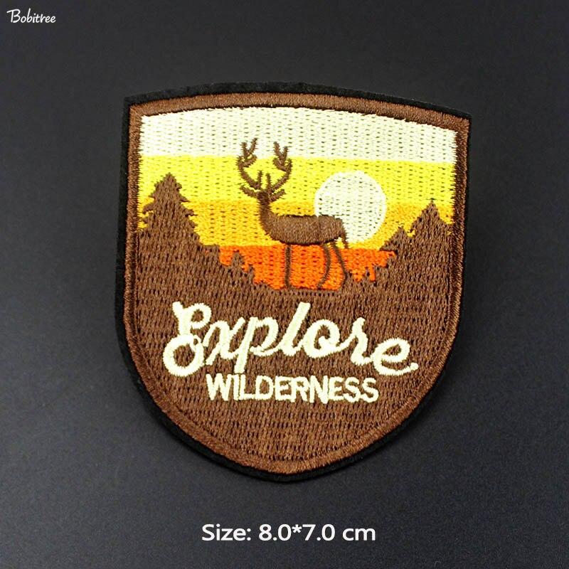2019 parche Animal de ciervo salvaje insignias de hierro en para niñas niños ropa camiseta decoración apliques bordados pegatinas