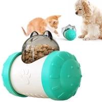 pet dog toys anti choking feeder slow food bowl cat and dog feeder tumbler pet educational interactive toy food leaker ball