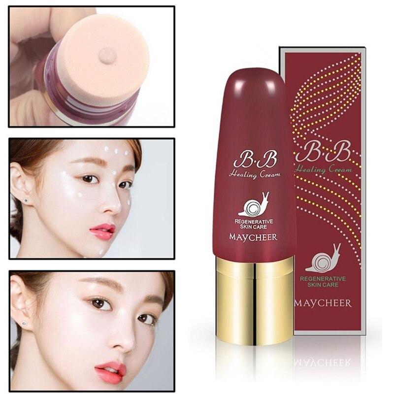 BB Cream Face Liquid Foundation Snail Essence Repair Moisturizing Whitening Brighten Concealer Base BB CC Cream Makeup Maquillag недорого
