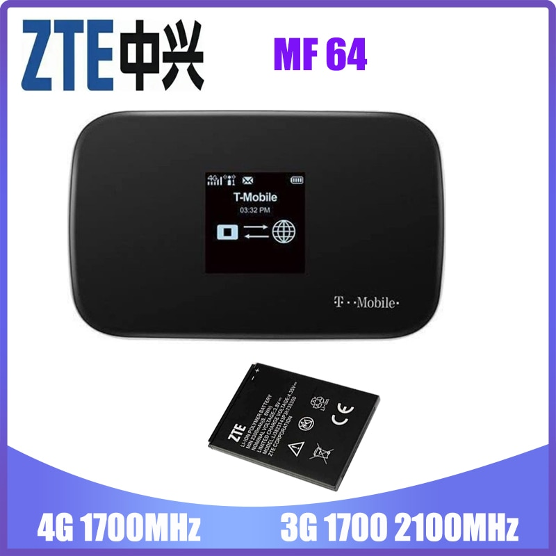 ZTE Z64 Mobile Wifi Hotspot 4G Router MF64 Up to 21Mbps Download Speed Up to 8 connected devices Create A WLAN Anywhere