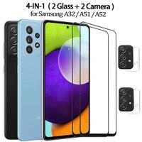 A52 A51 A32 Samsung A 52 4G Smartphone 9D Glass for Galaxy A52 Tempered Glass Samsung Galaxy A52 Film Verre Trempe samsung-a52 5G mobile screen protector samsung a52