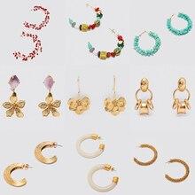 Bestessy 2020 ZA boucles doreilles femmes été Vintage fruits coquille goutte boucles doreilles bijoux de mariage fête vacances cadeaux en gros