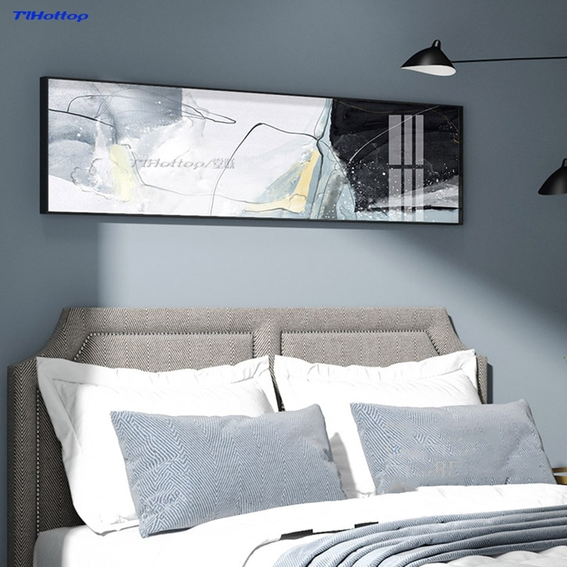 Aluminio + cristal pintura en porcelana europeo del norte pared Mural sofá Fondo dibujar mis pensamientos pinturas blackOuterframe
