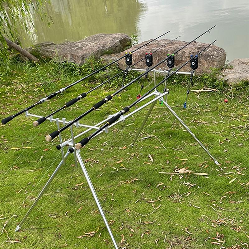 Fishing Swingers Set Fishing Bite Alarm Indicators 4pcs In Zipped Case Led lluminated Swinger Carp Fishing Accessories X601 enlarge