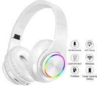 new wireless headphones headset foldable stereo headphone gaming earphones with microphone for pc mobile phone mp3