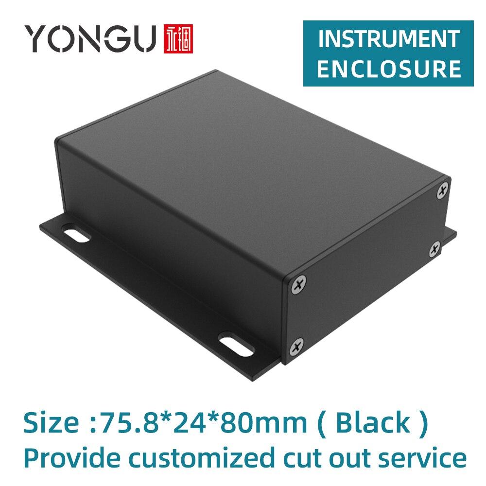 صندوق حديدي للتحكم في مبيت الكهرباء ، صندوق تحويل من الألومنيوم J17 75.8*24 مللي متر
