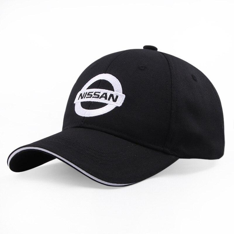 Black Baseball Cap Sports Racing Car Men's Sunglasses Moto NISSAN Car Motocross Hats Cap Racing F1 M