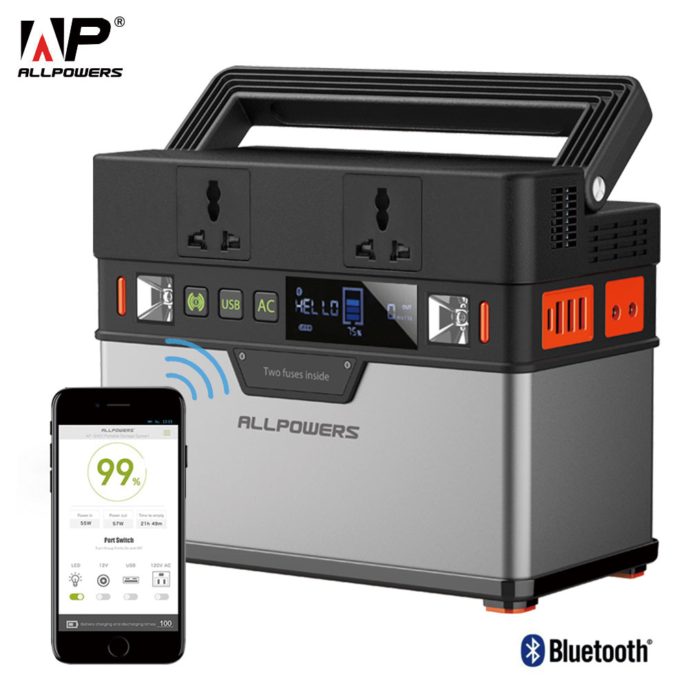 ALLPOWERS 110V 220V AC Power Station Pure Sine Wave Portable Generator Powering Car Refrigerator TV