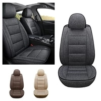 pu leather universal car seat protector cover seat case artificial suede for most cars airbag compatible standard edition