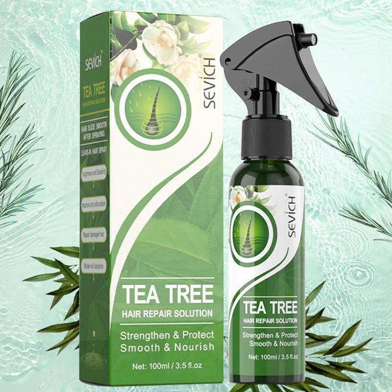 Фото - Sevich 100 мл чайное дерево кератин разглаживающий спрей для волос Мягкий и увлажняющий уход за волосами Восстанавливающий спрей для лечения во... спрей кондиционер для волос чайное дерево и мята 150мл