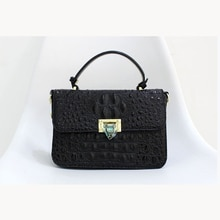 2021 new fashion luxury imported crocodile pattern 100% leather lady bag handbag shoulder messenger