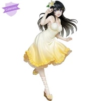 cuteness original taito anime aobuta sakurajima mai summer dress ver mai senpai figure colletible model doll toys figure h 21cm