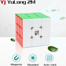 yj yulong v2 m Magic Magnetic Cube yulong Stickerless Magico Cubo yulong 2m Professional Magnets Puzzle Speed Cubes Educational