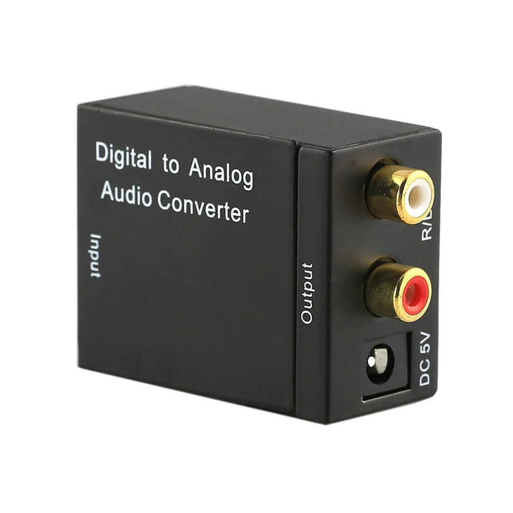 Digital a convertidor de Audio analógico Digital óptico Coaxial Toslink a RCA...