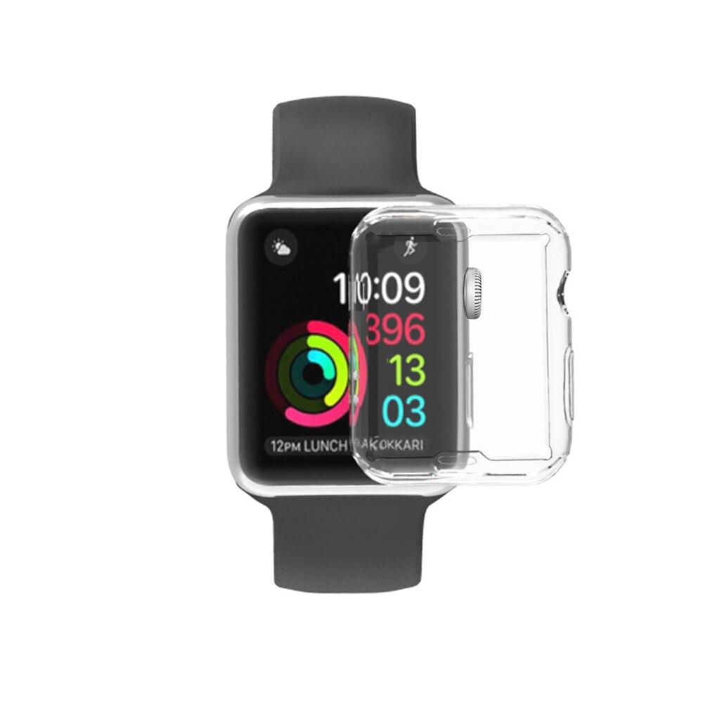 360 magro relógio capa para apple assista caso 4 3 2 1 42mm 38mm macio claro tpu protetor de tela para relógio 4 3 44mm 40mm